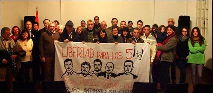 Comité por la liberación de los 5 en Cádiz