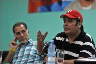 René González y Raúl Capote hablan a los delegados a la cita en Ecuador