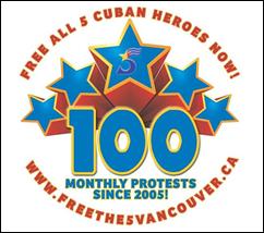100 meses de solidaridad con los Cinco (Vancouver Canadá)
