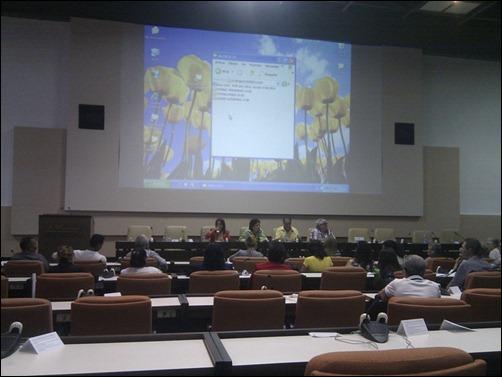 """Panel """"Compromiso social de los universitarios en la promoción de la lucha por la liberación de Los Cinco"""" en Universidad 2014-1"""