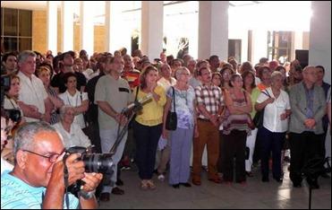 Inauguración de la instalación NO AGRADEZCAN EL SILENCIO, creada por el artista Alexis Leiva Machado (Kcho).