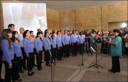 Coro Entrevoces, dirigido por Digna Guerra
