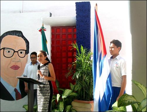 Develación de busto de Martí en Cancún en homenaje a los Cinco Cubanos2