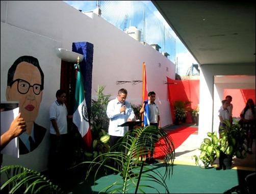 Develación de busto de Martí en Cancún en homenaje a los Cinco Cubanos3