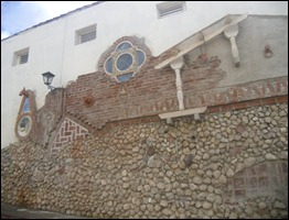 El mural Medio milenio, fundación de la villa, resulta una visita al pasado y presente de Sancti Spíritus. Foto Lisandra Gómez Guerra