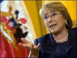 Michele Bachelet, presidenta de Chile