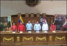 René González recibe honores del parlamento venezolano