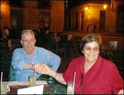Valentin Huerta en La Habana con su esposa, Coloquio por los 5, 2010