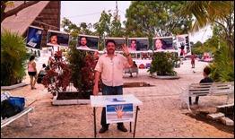 Actividad en Cancún como apoyo a la II jornada 5 Días por los 5 Cubanos