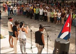 Acto en favor de los Cinco en la Universidad de Ciencias Pedagógicas Enrique José Varona
