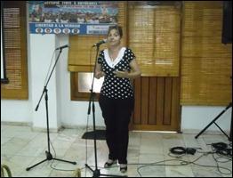 Elizabet Palmeiro en el XII Encuentro El 3 a las 4 por los 5, UNEAC, 3 de junio de 2014. Autor Nairovin Ojeda Durán
