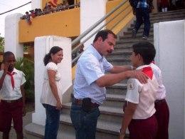 Fernando González en la Ciudad Escolar 26 de Julio de Santiago de Cuba