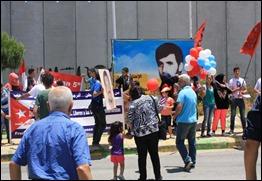 Acto en favor de la causa de los Cinco del Comité Libanés en la frontera con Israel, 6 de junio de 2014