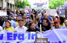 Manifestación hacia la Casa Blanca 5 Days For The 5, Washington DC