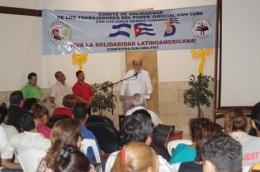 """""""No podíamos pasar por alto nuestro deber, nuestra obligación de solidarizarnos con los Cinco Héroes Cubanos, encarcelados injusta y arbitrariamente"""", expresó el magistrado de la CSJ, doctor Rafael Solís Cerda."""