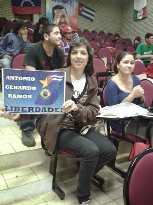 Alumnos del Curso Latino, Escuela Nacional Florestan Fernandes (ENFF), en Guararema, SP.