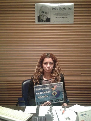 Jaqueline , funcionaria del Sindicato de los Periodistas de Rio de Janeiro