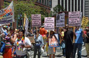 Marcha en favor de Chelsea Manning y los Cinco en Nueva York, 30 de junio de 2014