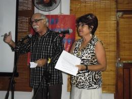 Rosalía Arnáez y Santiago Rony Feliú