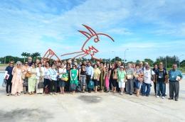 Foto oficial de la llegada a la UCI de los delegados al X Coloquio Internacional por la Liberación de Los Cinco y Contra el Terrorismo.