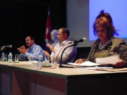 Lectura de la Declaración de la Federación de Cubanos Residentes en España FACRE José Martí