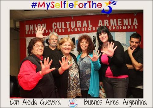 Comité argentino con Aleida Guevara