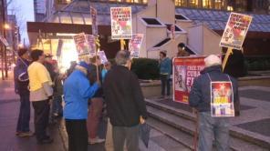 Autor: Comité de Vancouver por la Libertad de los 5, Canadá (@Freethe5_Van): Supporters of the #Cuban5 gathered in #Vancouver for 109th monthly protest!