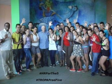 Autor: Javier Anias Santos, Grupo de Acción por la Liberación de los Cinco, UCI, Cuba (@si_cuba): #UCI en su #12Aniversario lucha por los Derechos Humanos para los 5