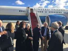Llegada de Alan Gross a EE.UU. Foto de Twitter