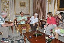 Antonio Guerrero con amigos nortamericanos en el ICAP