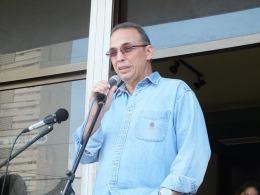 Antonio Guerrero en acto por el 13 de marzo en el ICRT