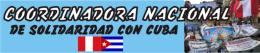 Logo Coordinadora Nacional de Solidaridad con Cuba de Perú