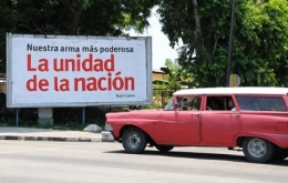 Valla La Unidad de Acción-Cuba