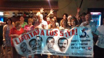Miembros del Comité Argentino por la Libertad de los 5
