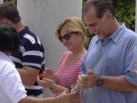 Visita de Gerardo Hernández, Ramón Labañino y René González a la UCI