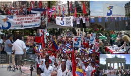 Colage Cinco Héroes Cubanos