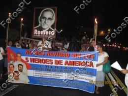 Marcha por los cinco en El Salvador- Foto PL(Raimundo López)