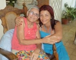 Rosa C Báez y Marlene Caboverde